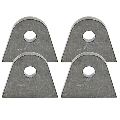 Tab #5 - Mild Steel Mounting Tabs 3/16 inch thick - 4 pack