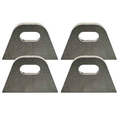 Tab #6 - Mild Steel Mounting Tabs 3/16 inch thick - 4 pack
