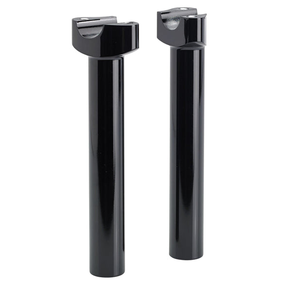 Forged Aluminum Handlebar Risers - 8 inch black
