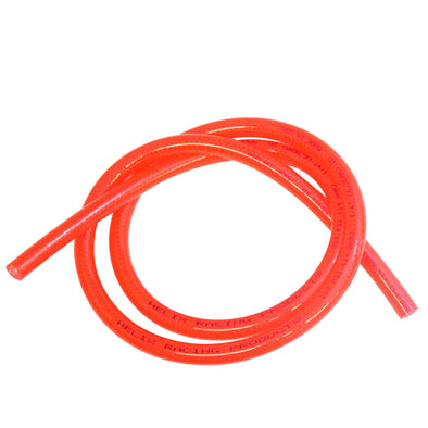 Cycle Standard Reinforced Translucent Fuel Line - Red - 1/4 inch