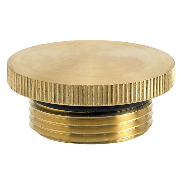 Brass Gas / Oil Filler Cap - Unvented