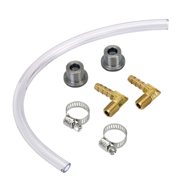 DIY Gas Tank Fuel Sight Gauge Kit - Clear - Brass Fittings