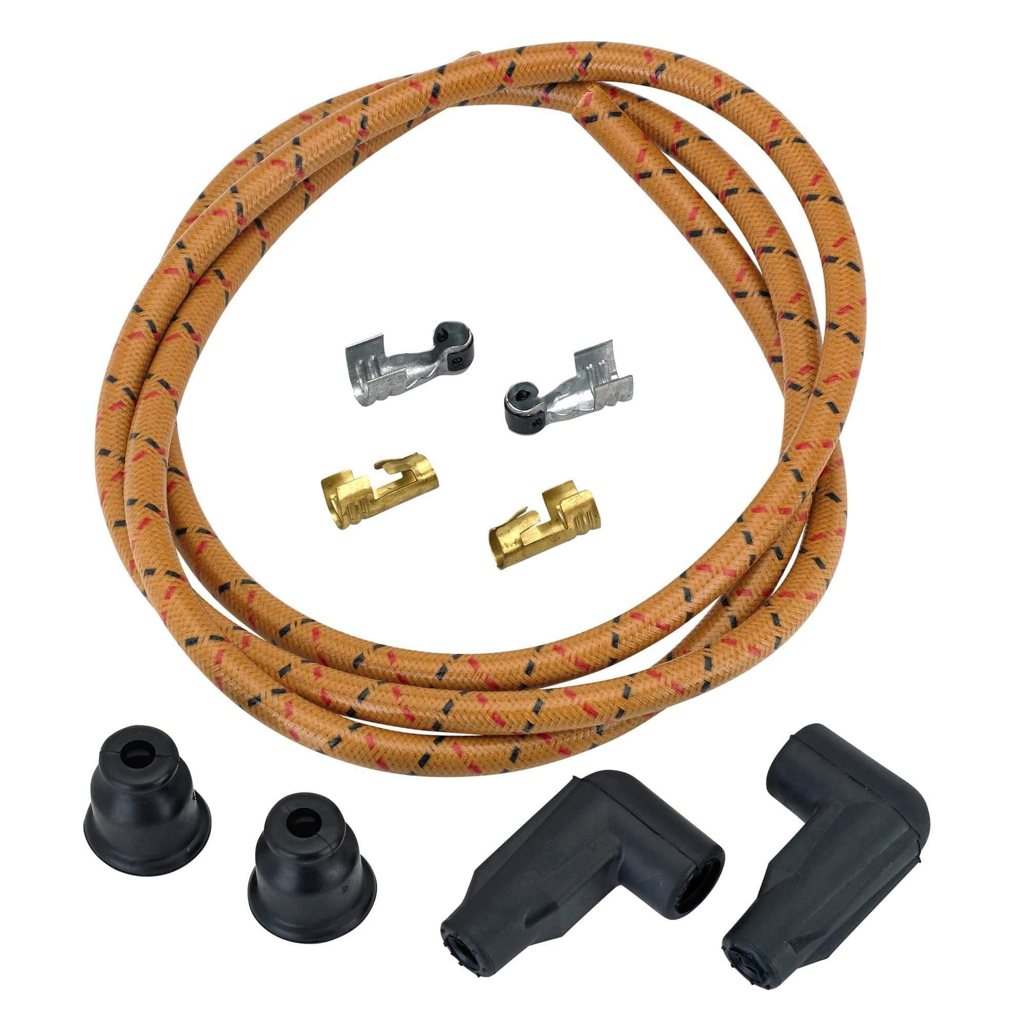 """MOTORCYCLE SPARK PLUG WIRES 10/"""" COPPER CORE"""