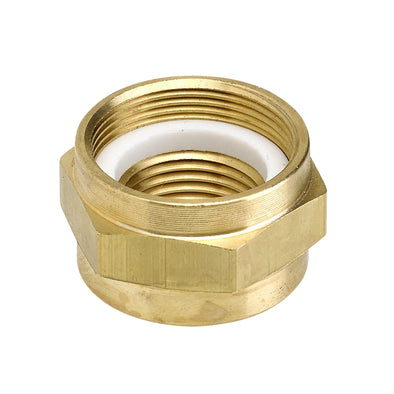 22mm to 3/8 inch NPT Brass Petcock Adapter Nut