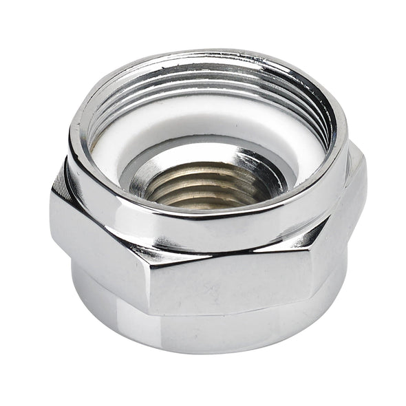 22mm to 1/4 inch NPT Chrome Petcock Adapter Nut