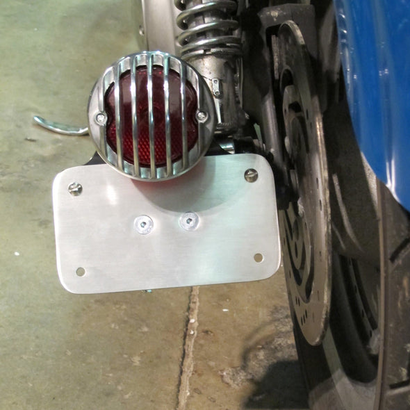 Model A Tail Light Mounting Bracket - Horizontal License Plate