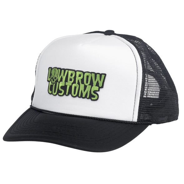 Trucker Hat with Embroidered Lowbrow Customs Logo Patch
