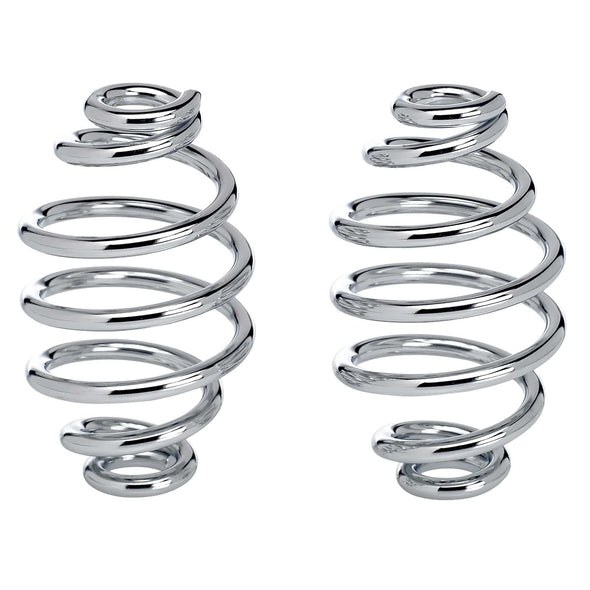 Solo Seat Springs - Barrel Style - 4 inch Chrome
