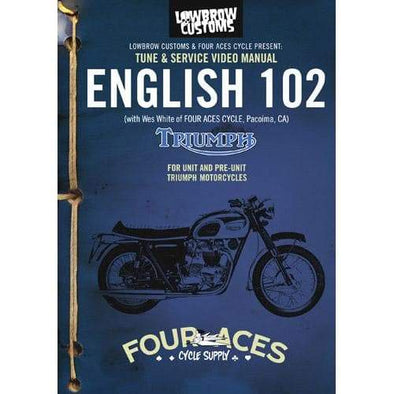 English 102 DVD Classic Triumph Motorcycle Maintenance Video Manual