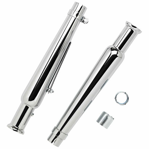 Cocktail Shaker Mufflers for 1-1/2 to 1-3/4 inch Exhaust Pipes