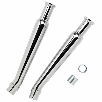 Cocktail Shaker Mufflers - Upswept - for 1-1/2 to 1-3/4 inch Exhaust Pipes