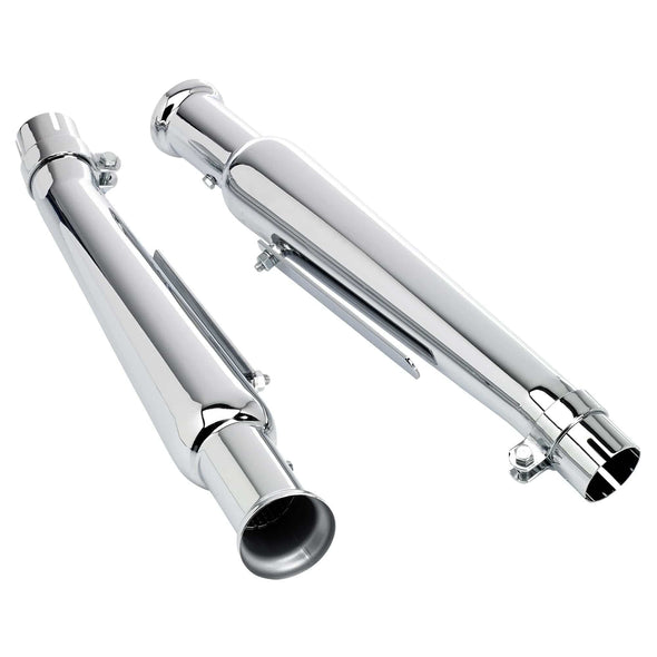 Cocktail Shaker Mufflers - Upswept - Left and Right Side - for 1-1/2 to 1-3/4 inch Exhaust Pipes