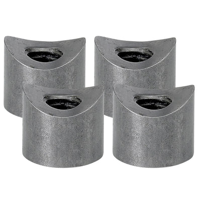 Coped Steel Bungs 1/2 inch long - 5/16-18 thread - 4 pack