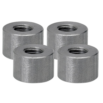Threaded Steel Bungs 1/2 inch long - 3/8-16 thread - 4 pack