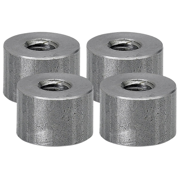 Threaded Steel Bungs 1/2 inch long - 5/16-18 thread - 4 pack