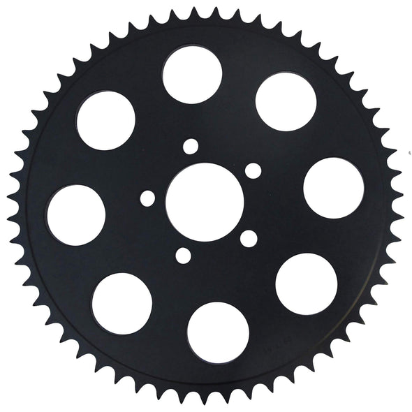 Replacement Chain Conversion Black Sprocket - 52 Tooth - Harley Sportster 2000-up Dyna 06-up