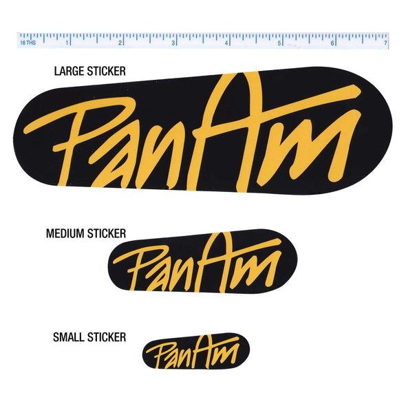 Logo Sticker - Black / Yellow - Large