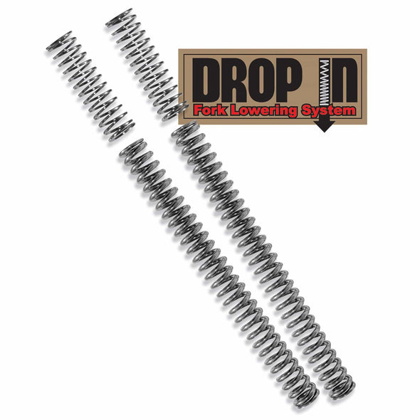 Drop-In Front Fork Lowering Kit - fits 2000-2017 Harley-Davidson FXST FLST