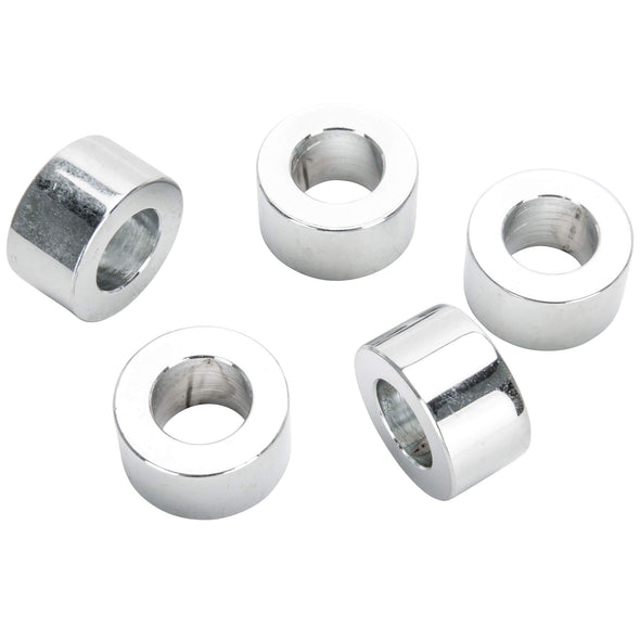 #SPC-030 1/2 ID x 1/2 length Chrome Steel Universal Spacer 5 pack