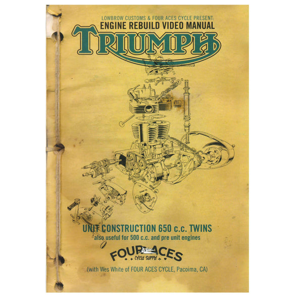 Triumph 650 Rebuild DVD with Wes White - Triumph Motorcycle DVD