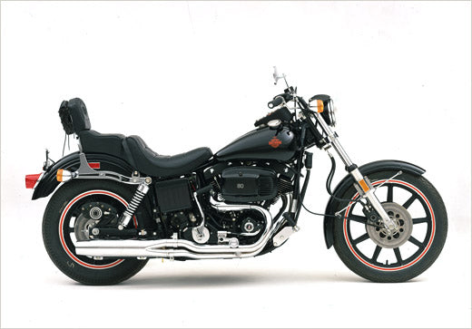 Harley-Davidson's FXB Sturgis model was released in 1980. Lowbrow Customs - Harley-Davidson: The AMF Years