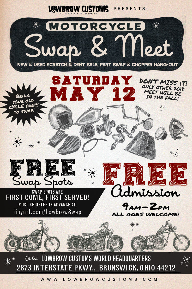 Lowbrow Customs Motorcycle Swap & Meet May 12th, 2018-2