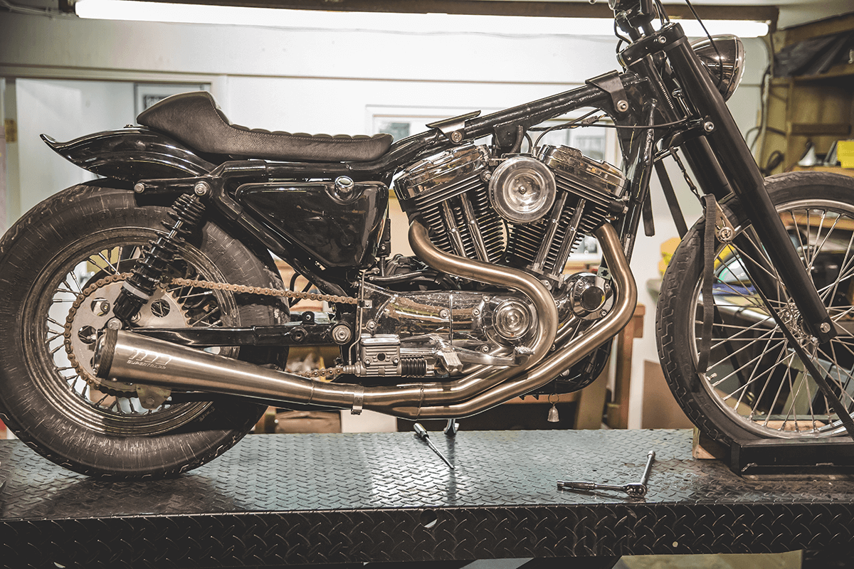 426A2761-How To Install: Lowbrow Customs Shotgun Pipes 86-03 Harley-Davidson Sportster