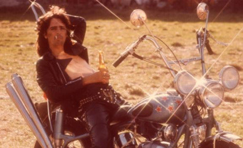 Alice cooper back in the 70's. Famous motorcycle riders