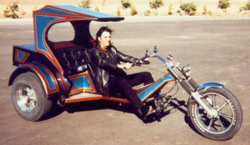 Check out this killer Trike with Alice Cooper. Famous motorcycle riders