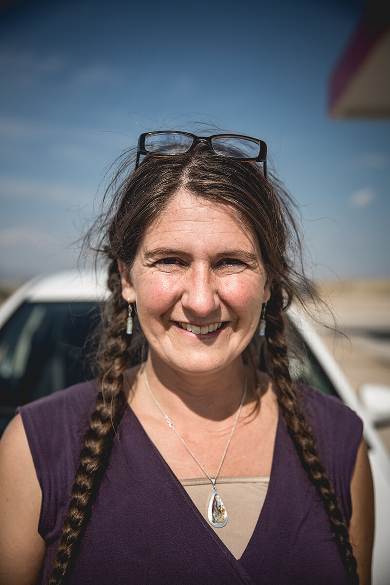 This is Space, the amazing lady from Ohio who gave me some of her home made beard oil in the middle of nowhere Wyoming. - Bonneville Speed Week 2017 - Lowbrow Customs