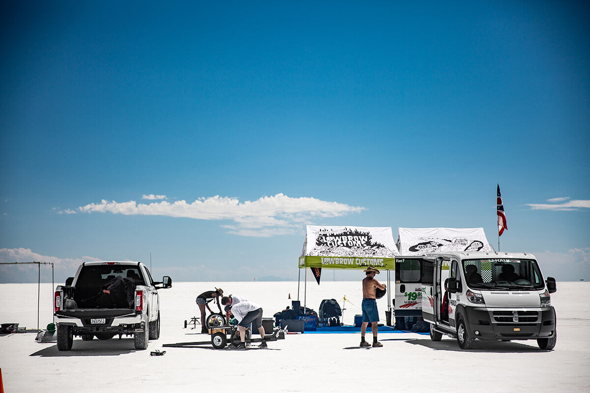"What would be home for the week, ""The Pits"". - Bonneville Speed Week 2017 - Lowbrow Customs"