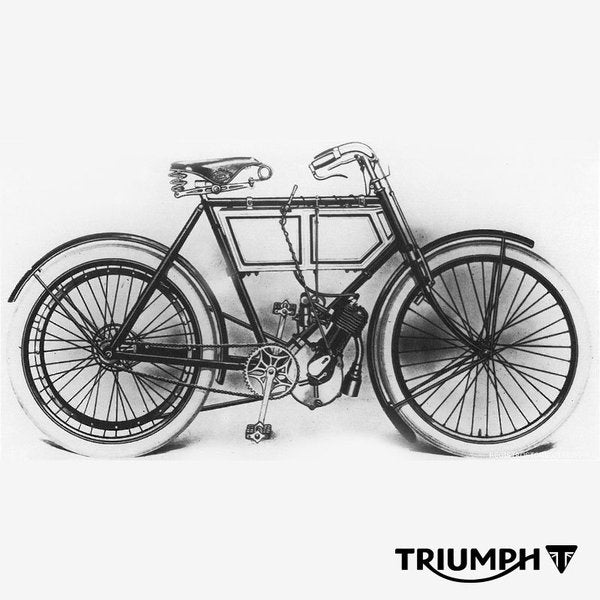 Drawling of the very first Triumph Motorcycle. - Lowbrow Customs, The History of Triumph motorcycles