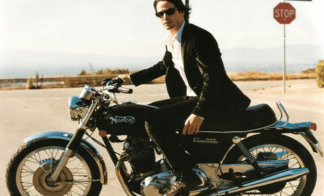 Keanu Reeves on a Norton Camando. Famous motorcycle riders