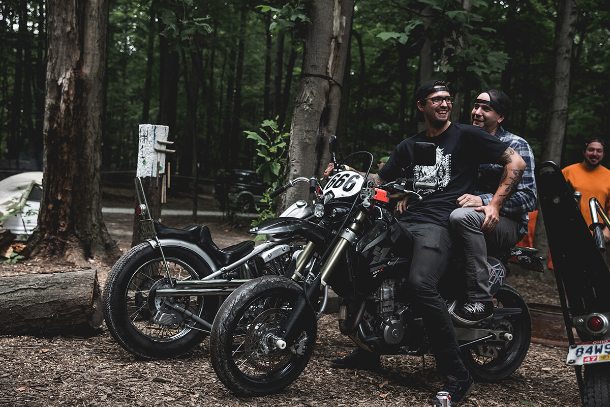 Paul Radd wins at having the coolest motard. Lowbrow Getdown 2017 - Lowbrow Customs