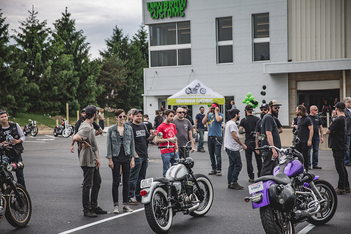 Just good times, good motorcycles and good people. Lowbrow Customs