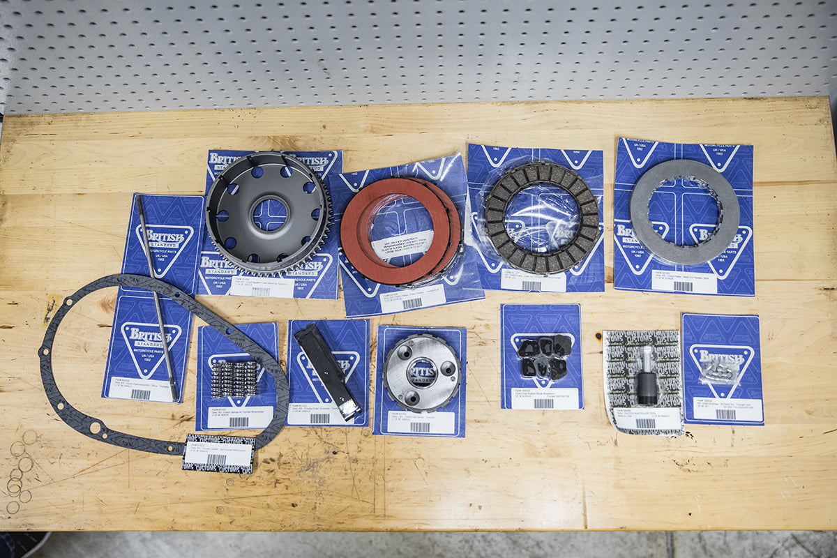 All the parts and tools you could ever need to rebuild your clutch assembly are available on our site. Triumph 650 clutch inspection and service-Triumph 650 Clutch Inspection and Service-5