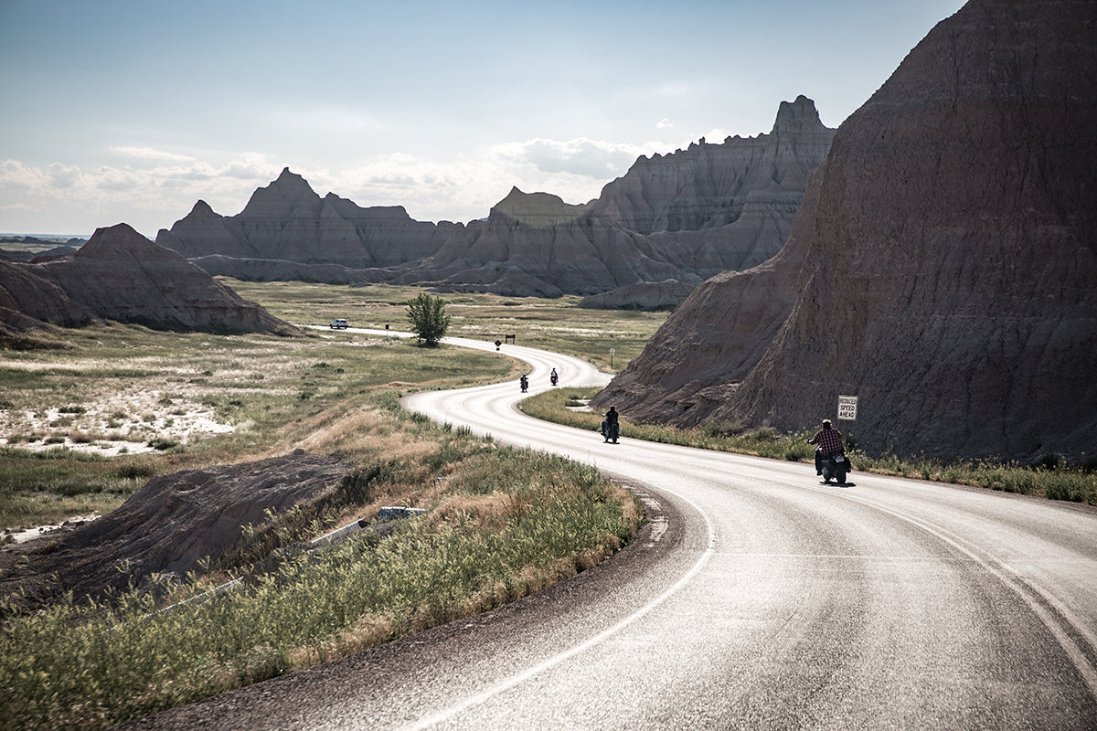 Unreal roads in The Badlands. Lowbrow-Customs---Cross-Country-2016