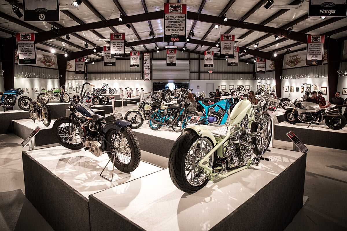 "Michael Lichter's ""Motorcycles as Art"" Exhibit. 7000 sq ft building filled with beautiful art and masterful builds. Lowbrow Customs - Sturgis 2017"