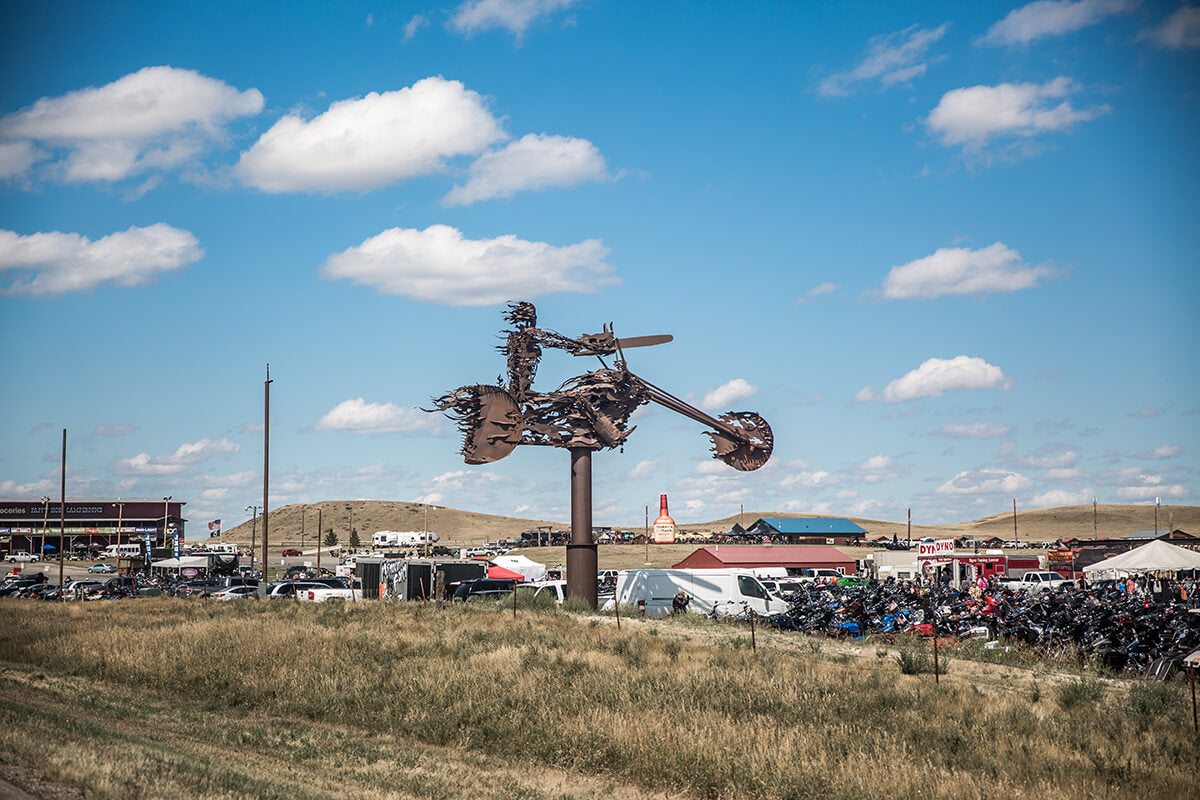 The new Full Throttle Saloon was 7 miles north of the Buffalo Chip on route 79. - Lowbrow Customs - Sturgis