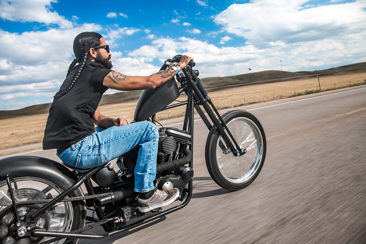 Eric San Miguel killing it on his latest Harley-Davidson Sportster build. - Lowbrow Customs - Sturgis 2017