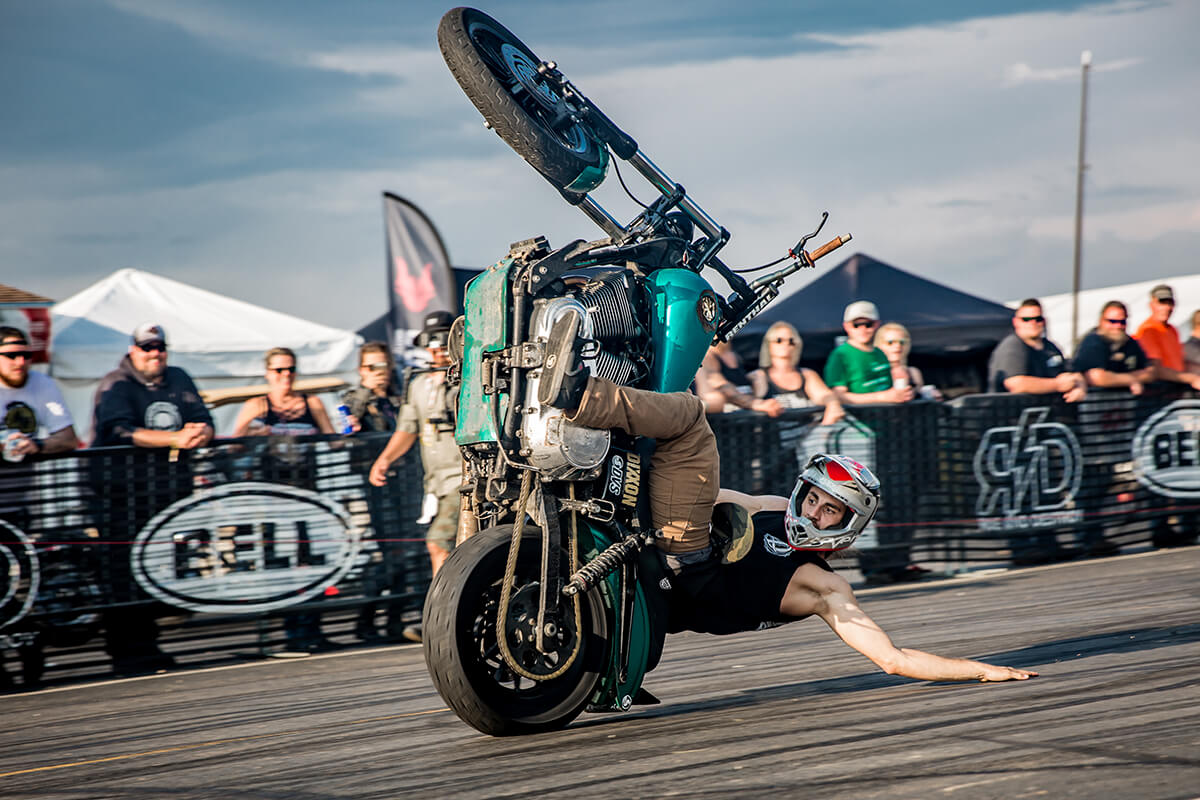 its 12:15 somwehere! This dude was ripping it up and taking names! Lowbrow Customs - Sturgis 2017