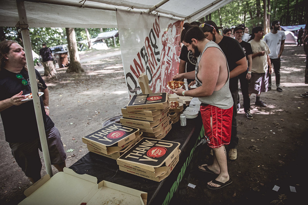Thanks again Pizza Hut for the pies, they went fast. Lowbrow Getdown 2016