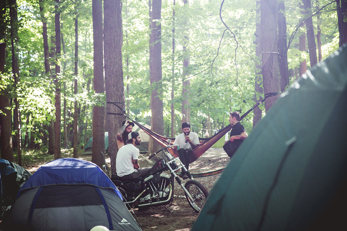 Random dude living it up in the hammock life with some friends. Lowbrow Getdown 2016