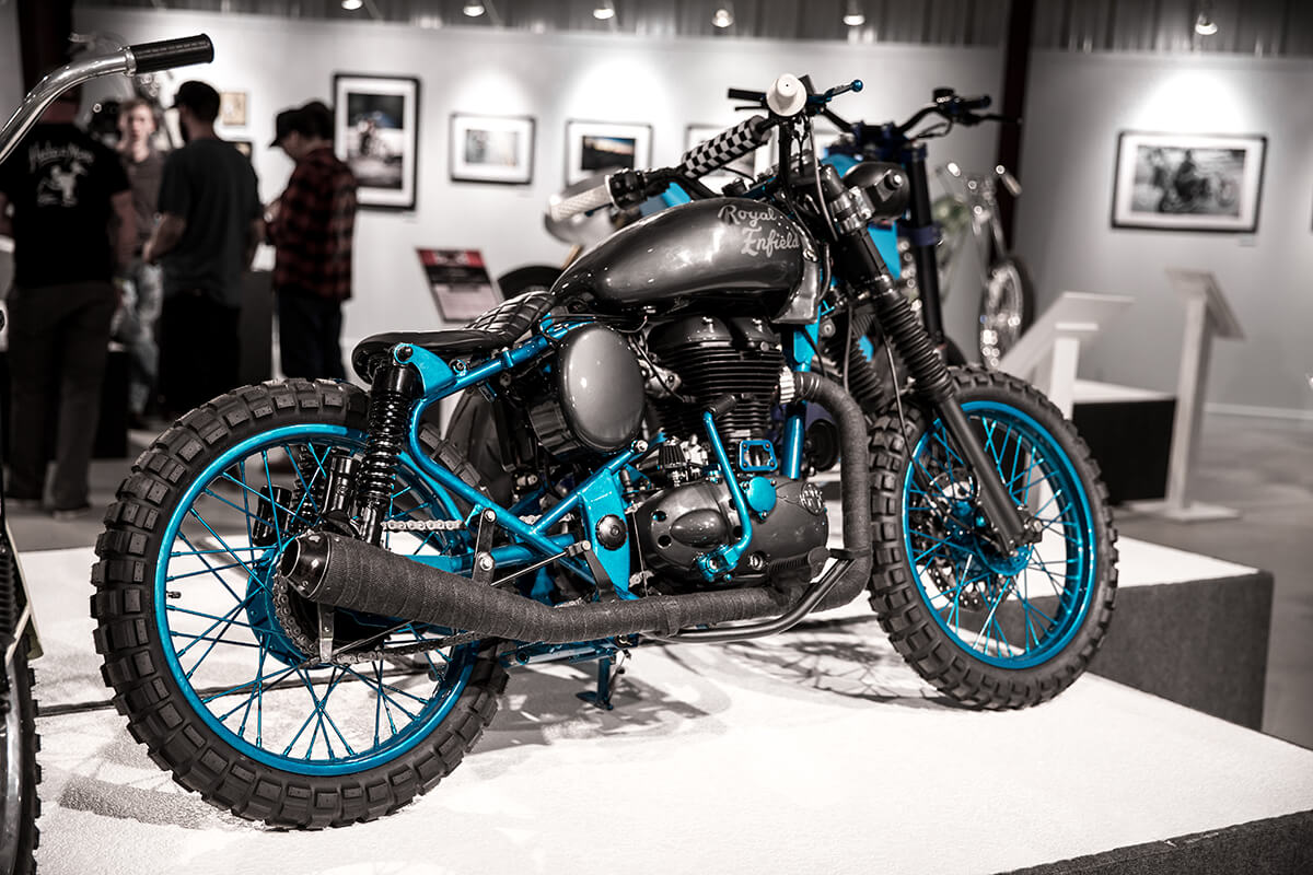Aj Harris, Age 31 - North Texas Tattoo Co. / Fort Worth, TX - Royal Enfield B5 - Lowbrow Customs - Old Iron Young Blood