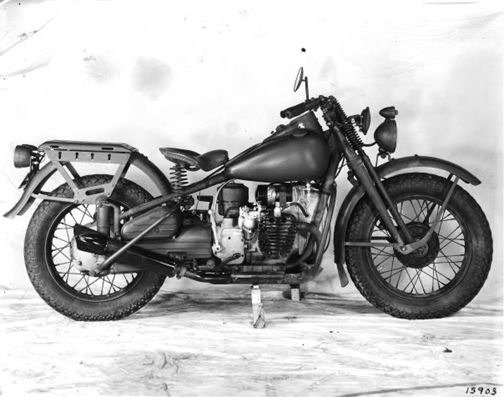 The XA was designed by Harley-Davidson, they modeled it after the advantages of the German BMW R71. With a 45 cubic inch \ opposed twin motor with a foot shift four speed trans so troops could keep both hands on the bars. The motor stayed cooler then a WLA along with having a larger gas tank for extended range.
