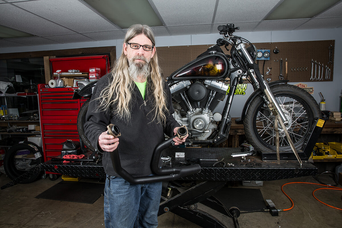 Pipes man! Pipes! - Lowbrow Customs - 2 into 1 by Kerker How to Install on Dyna