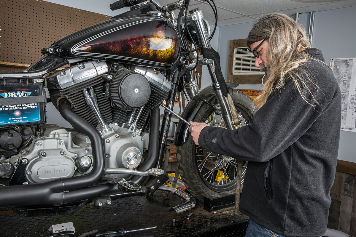 Make sure to go over each nut and tighten one last time if needed. - Lowbrow Customs - 2 into 1 by Kerker How to Install on Dyna