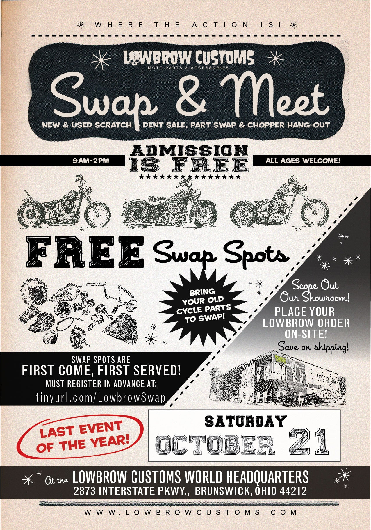 Last Lowbrow Customs Swap & Meet of 2017 - October 21st