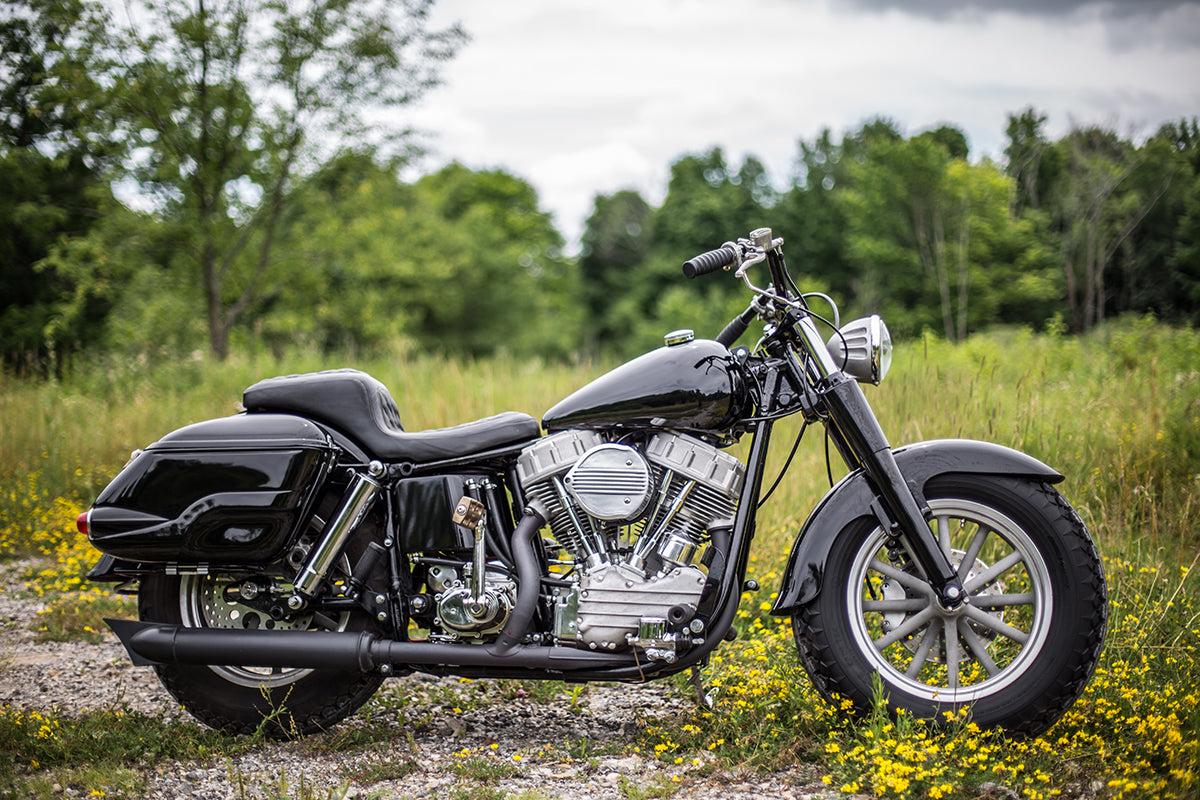 """The finished product, a 93"""" generator style S&S Panhead styled for long distance trips and slaying miles."""