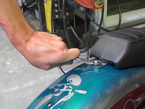 How to install biltwell inc. banana seat or cafe seat-10